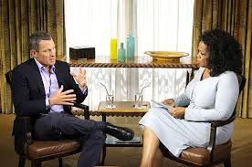 Lance Armstrong interviewed by Oprah Winfrey, courtesy of oprah.com