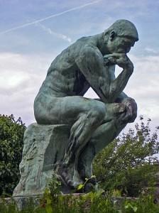 Rodin's statue The thinker