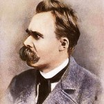 Friedrich Nietzsche, probably in a contradictory pose.