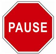 Pause sign